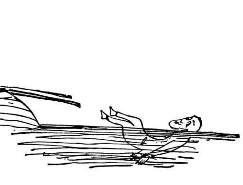 Az idős ember és a háborgó folyó