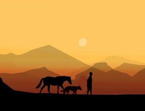 A vándor, a kutya és a ló