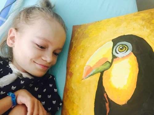 Mindennapi Motiváció – A festő kislány, akit izomsorvadása sem állíthat meg
